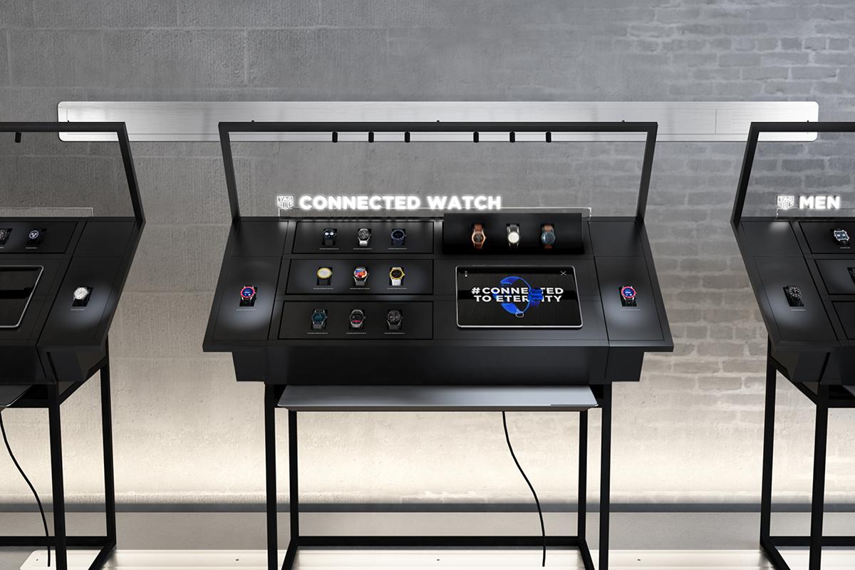 Display connecté développé par WIPDesign pour Tag Heuer